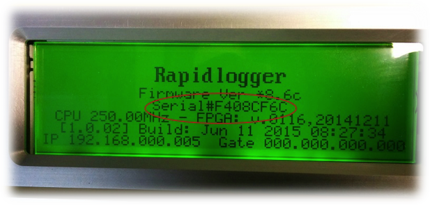 Rapidlogger Serial Number Location