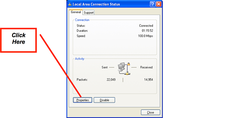 Figure 3: Local Area Connection Application