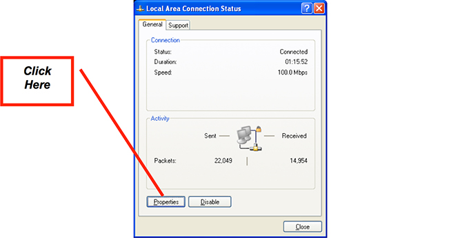 Figure 6: Local Area Connection Application
